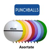 Set 10 baloane latex Punch Ball asortate 45cm